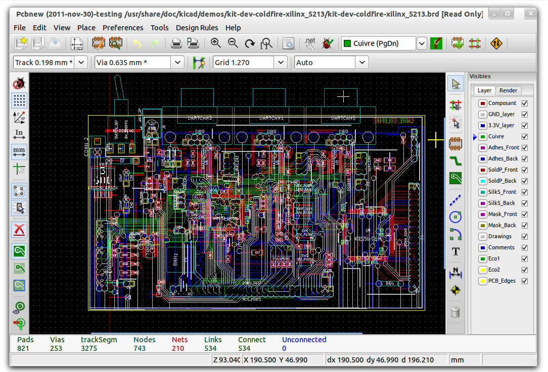 Kicad linux mint community kicad electronic schematic and pcb design software asfbconference2016 Images