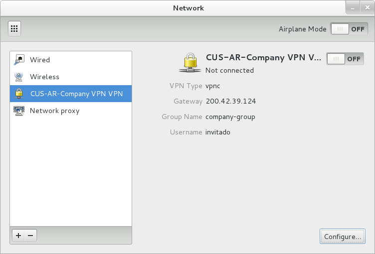 network manager vpnc gnome