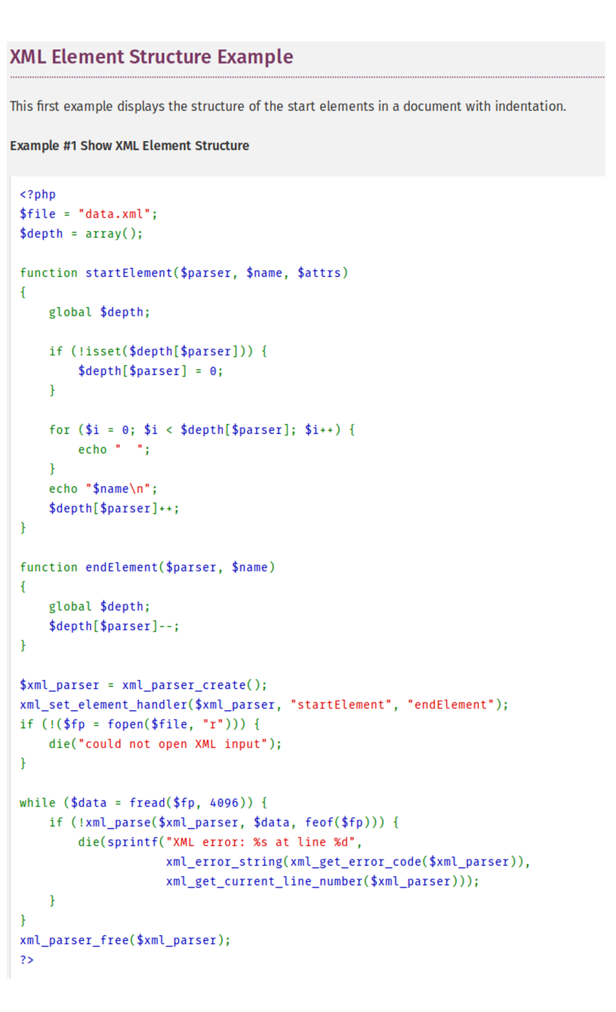 parser xml php