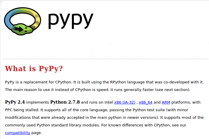 how to run program with pypy