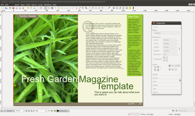 Scribus ng linux mint community for Scribus brochure templates