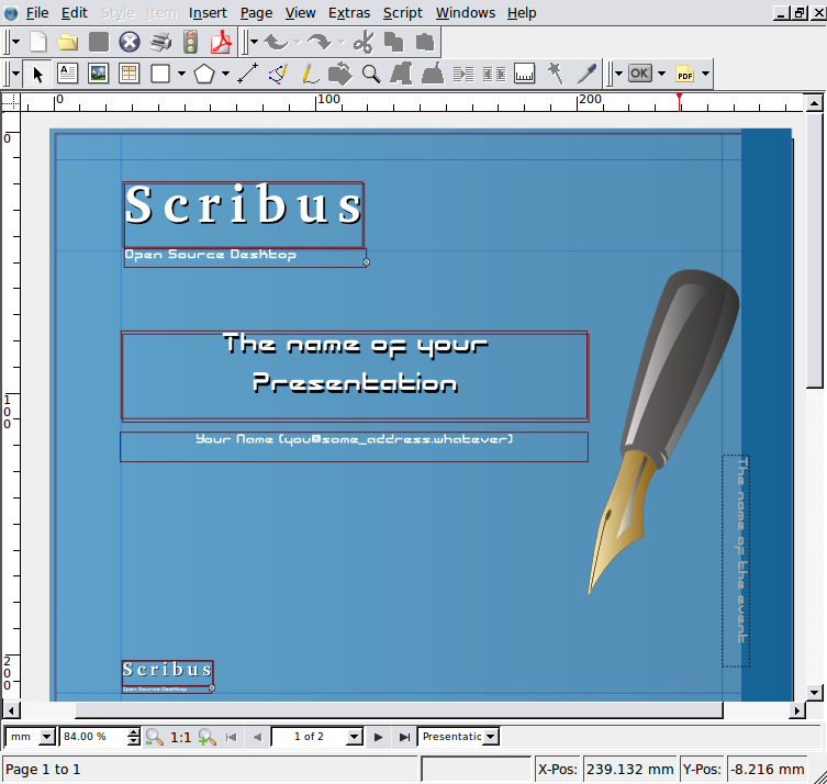 Scribus linux mint community for Scribus brochure templates