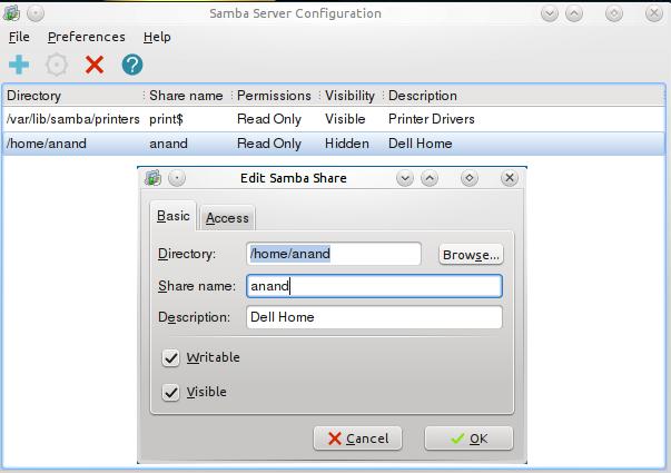 System Config Samba Linux Mint Community
