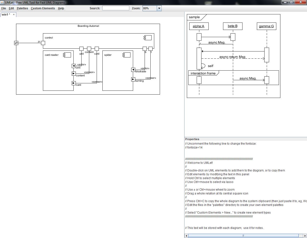 umlet simple text driven uml drawing tool - Free Uml Drawing Tool