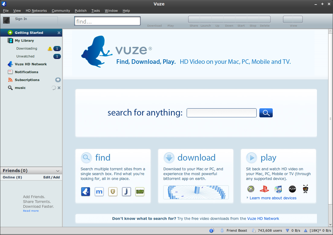 Azureus vuze 17 search templates